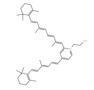 Structural drawing of N-Retinylidene-N-retinylethanolamine